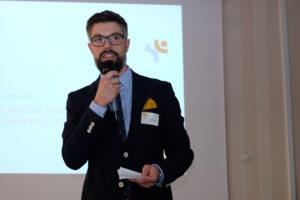 Jan Zieliński podczas prezentacji - warsztaty WDSN
