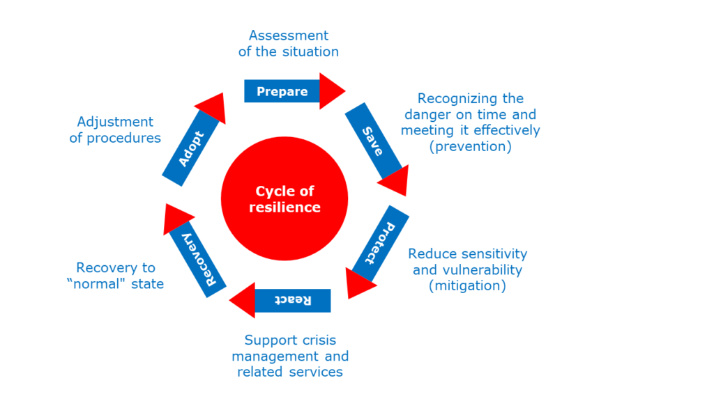 Schematic representation of the resilience cycle